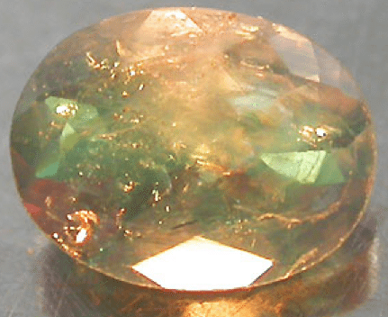 Alexandrite under incandescent light