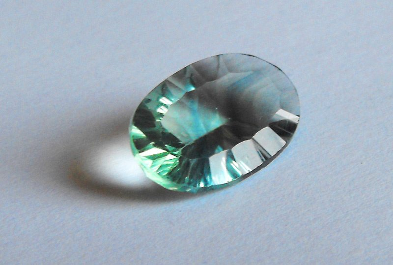 9 49ct greenish blue fluorite gemstone