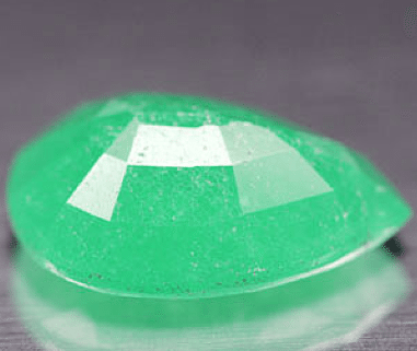 11 00 Ct Natural Green Jade Gemstone From China Pear Shape
