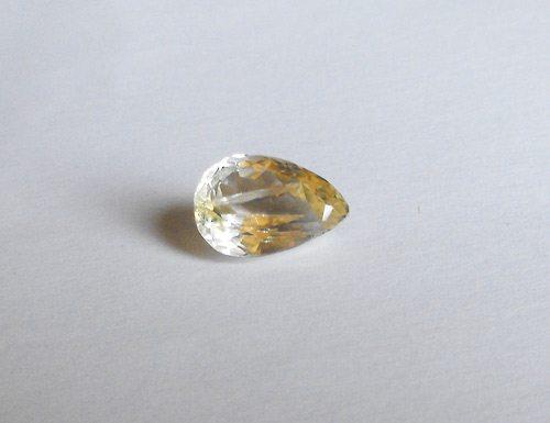 6 49ct yellow kunzite spodumene gemstone