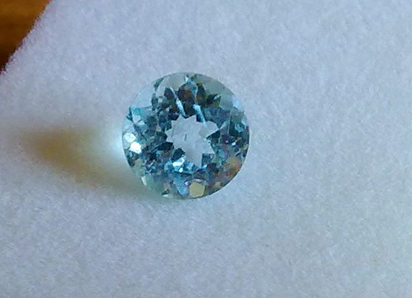 1 50ct Natural Sky Blue Topaz Round Brilliant Cut Loose