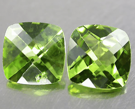 1.89 ct Pair of natural peridot gemstones for sale