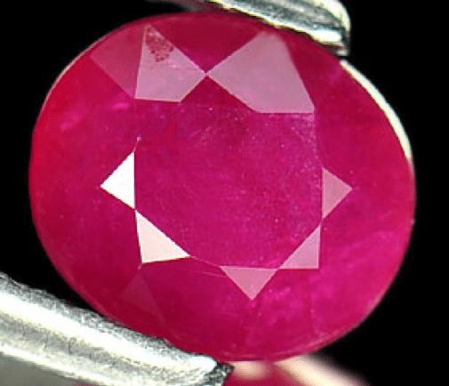 1 19 ct pinkish ruby gemstone